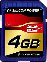 Silicon Power 4 GB SDHC Class 10 SP004GBSDH010V10
